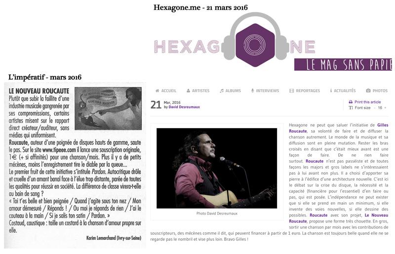 L'Impératif et Hexagone.me - mars 2016