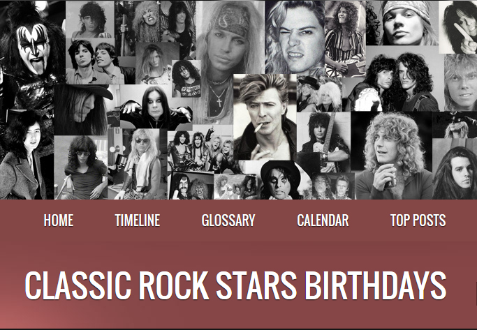 Classic Rock Stars Birthdays