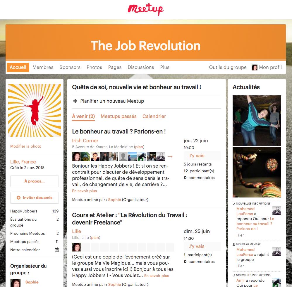 The Job Revolution sur Meetup