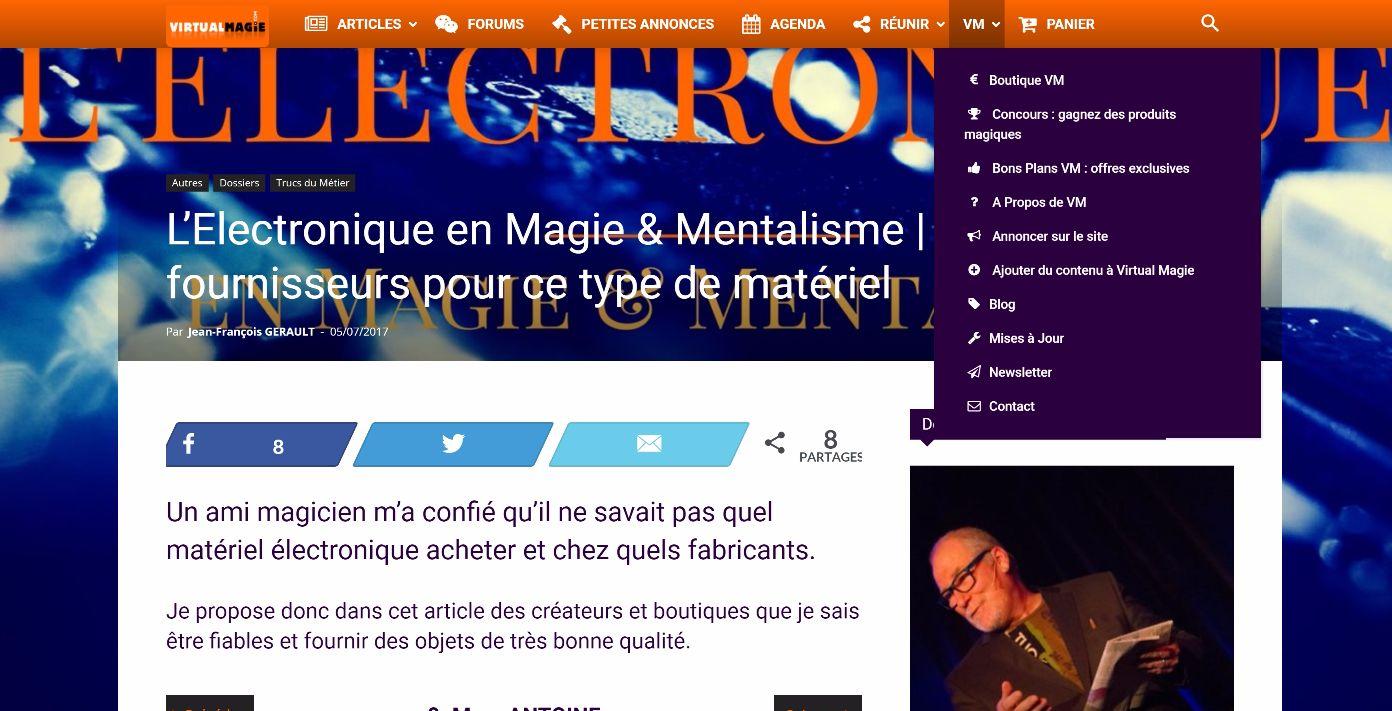 Article sur l'électronique et le mentalisme