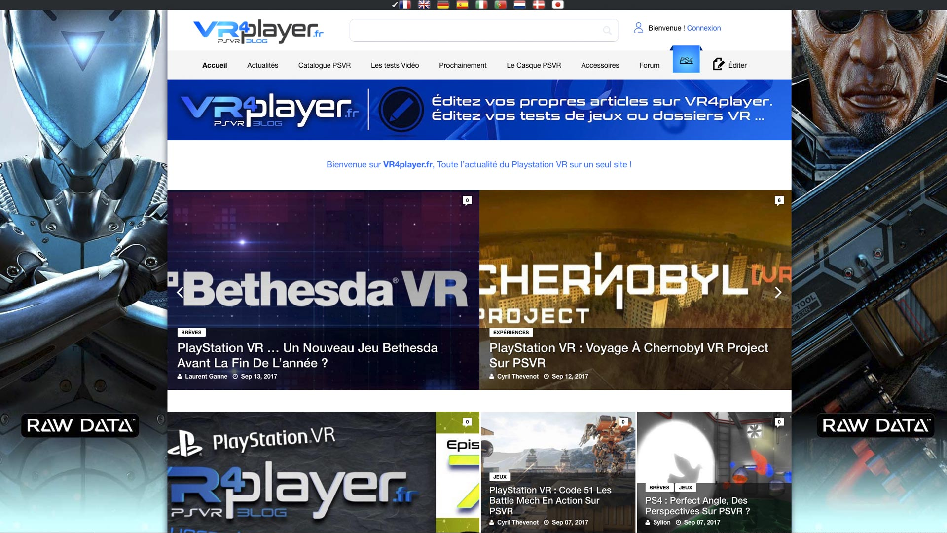 Le Site VR4player.fr