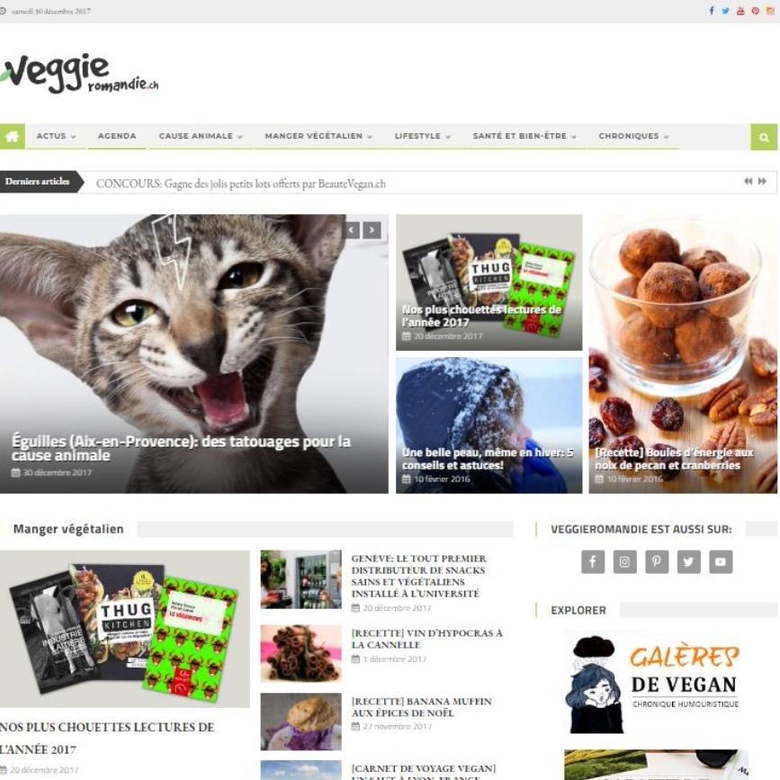 VeggieRomandie.ch webzine végane