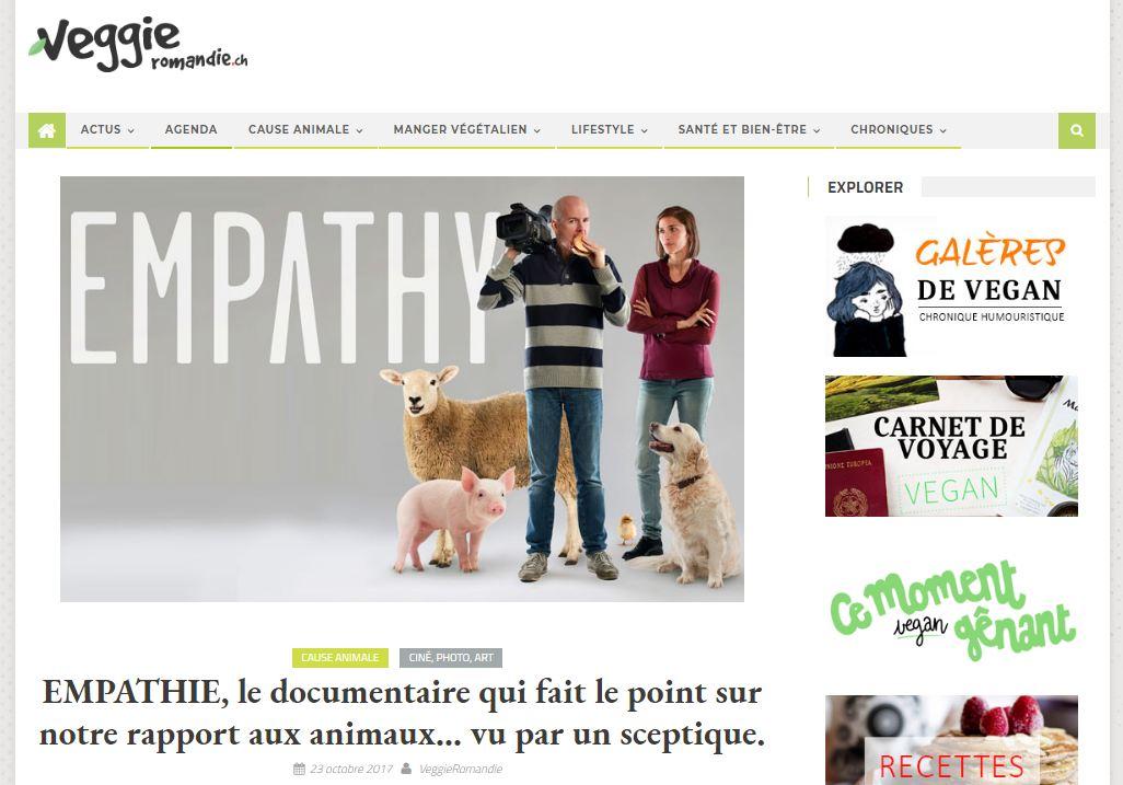 Notre article sur le documentaire Empathy