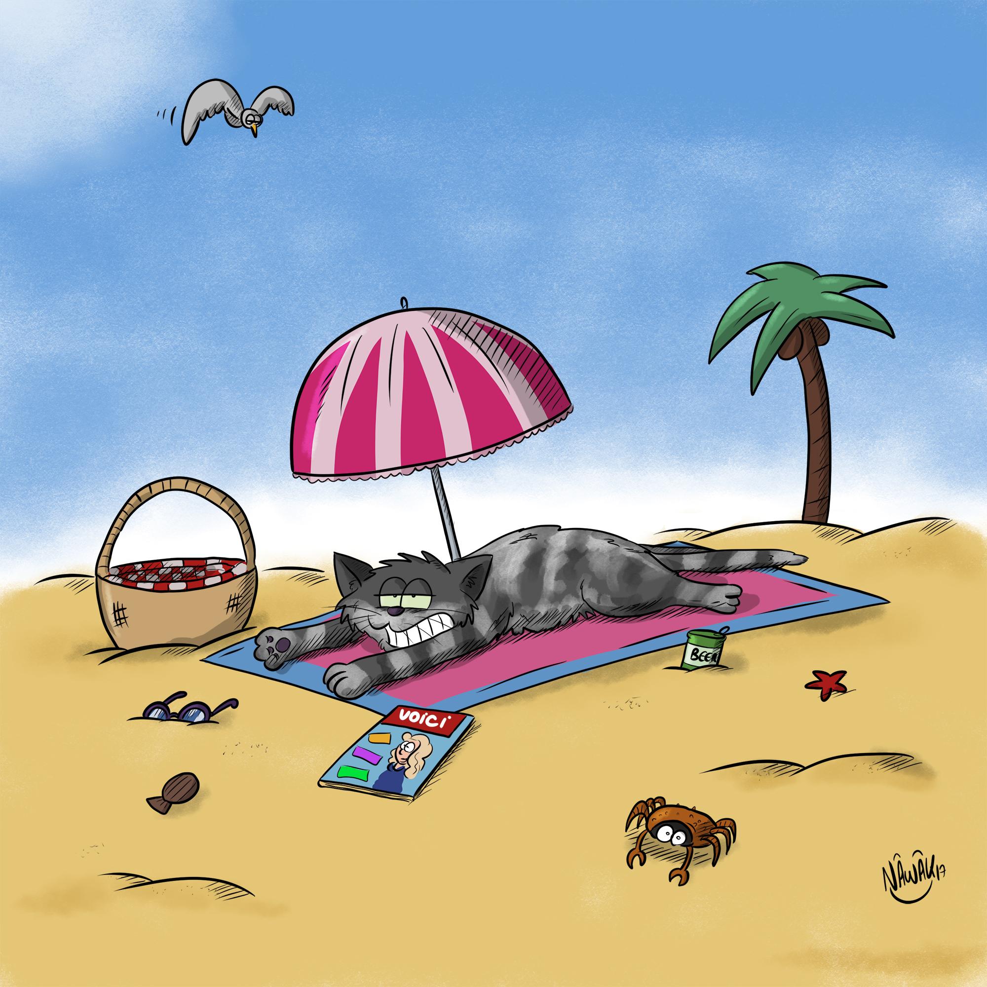Siri à la plage