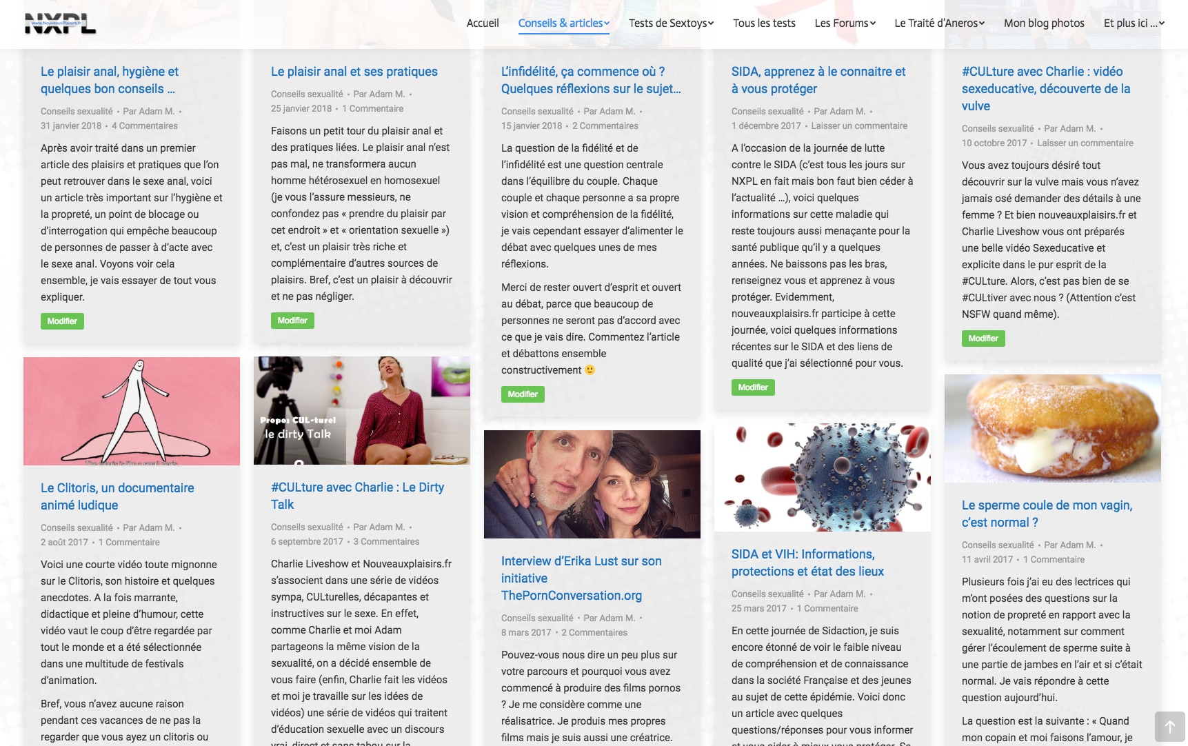 Exemples d'articles