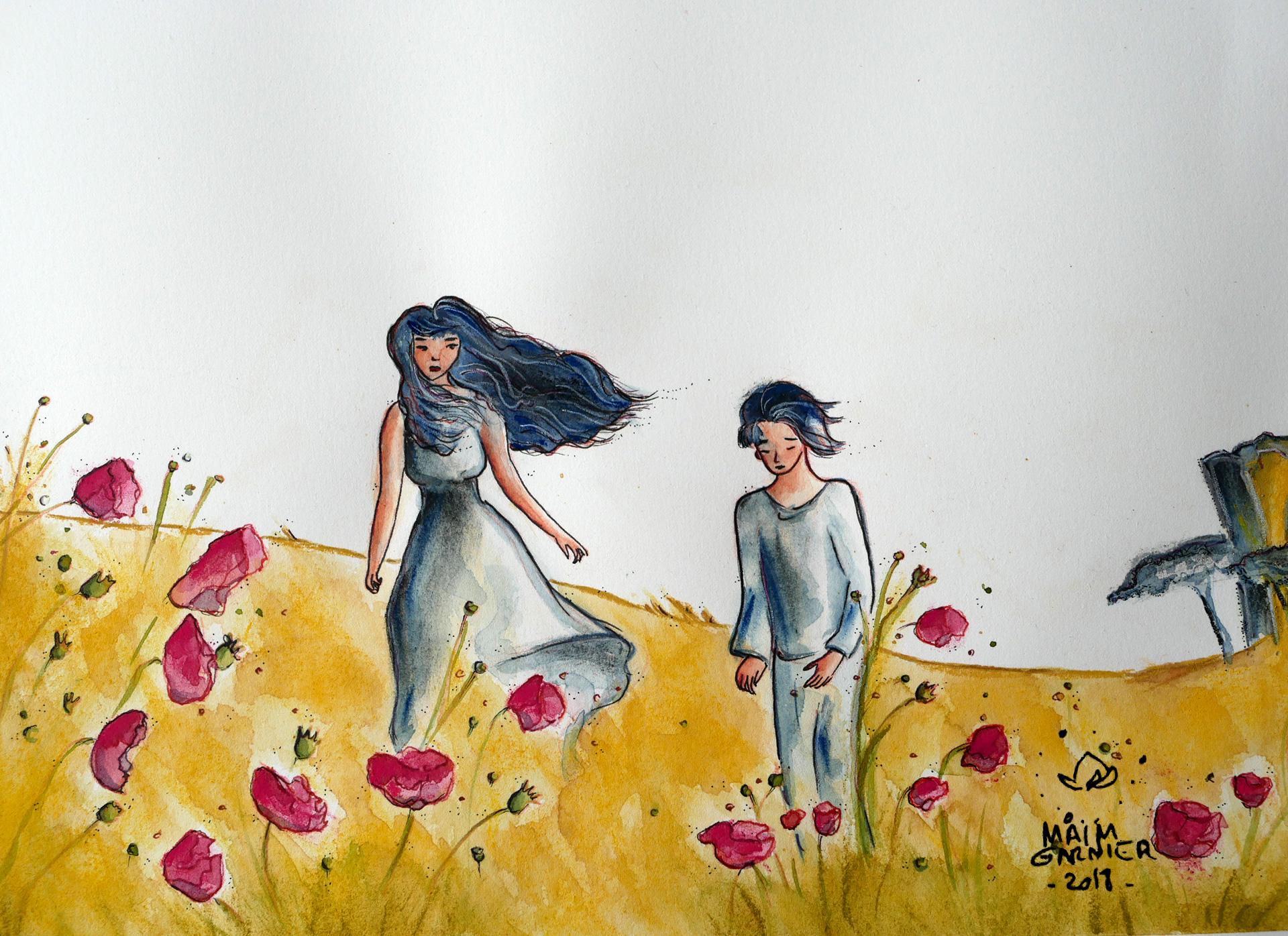Illustration aquarelle \u00e0 d\u00e9couvrir sur Sansible ~ Ma\u00efm Garnier