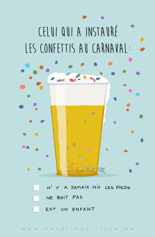 L'inconvénient des confettis au carnaval ...