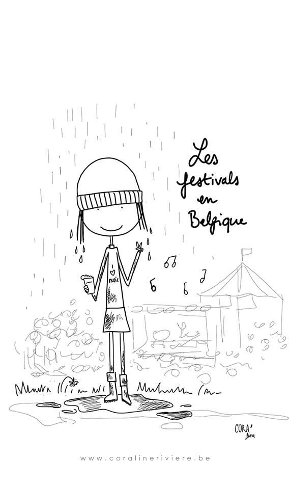 Les festivals en Belgique (sous la pluie faut