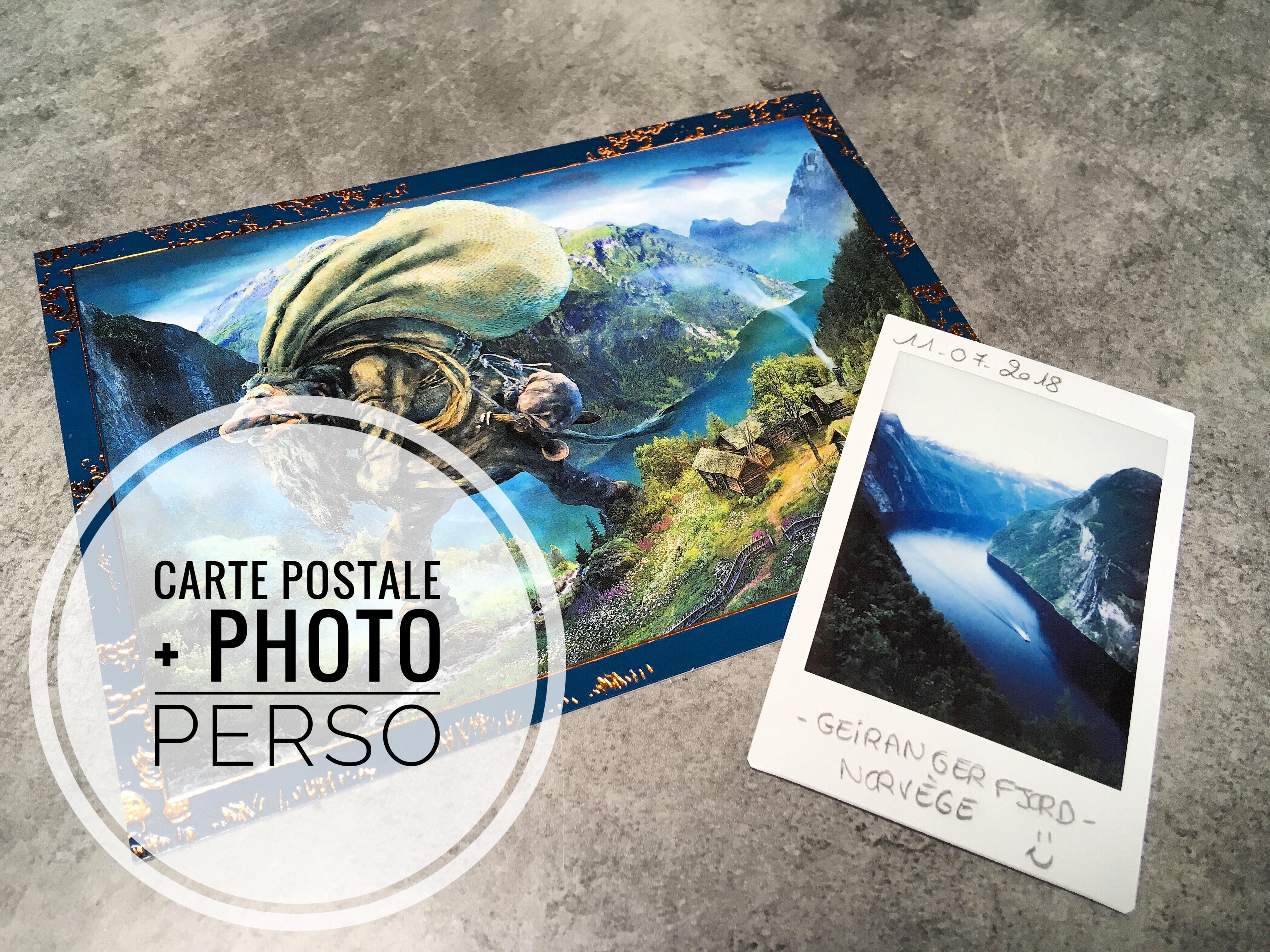 Carte postale + photo