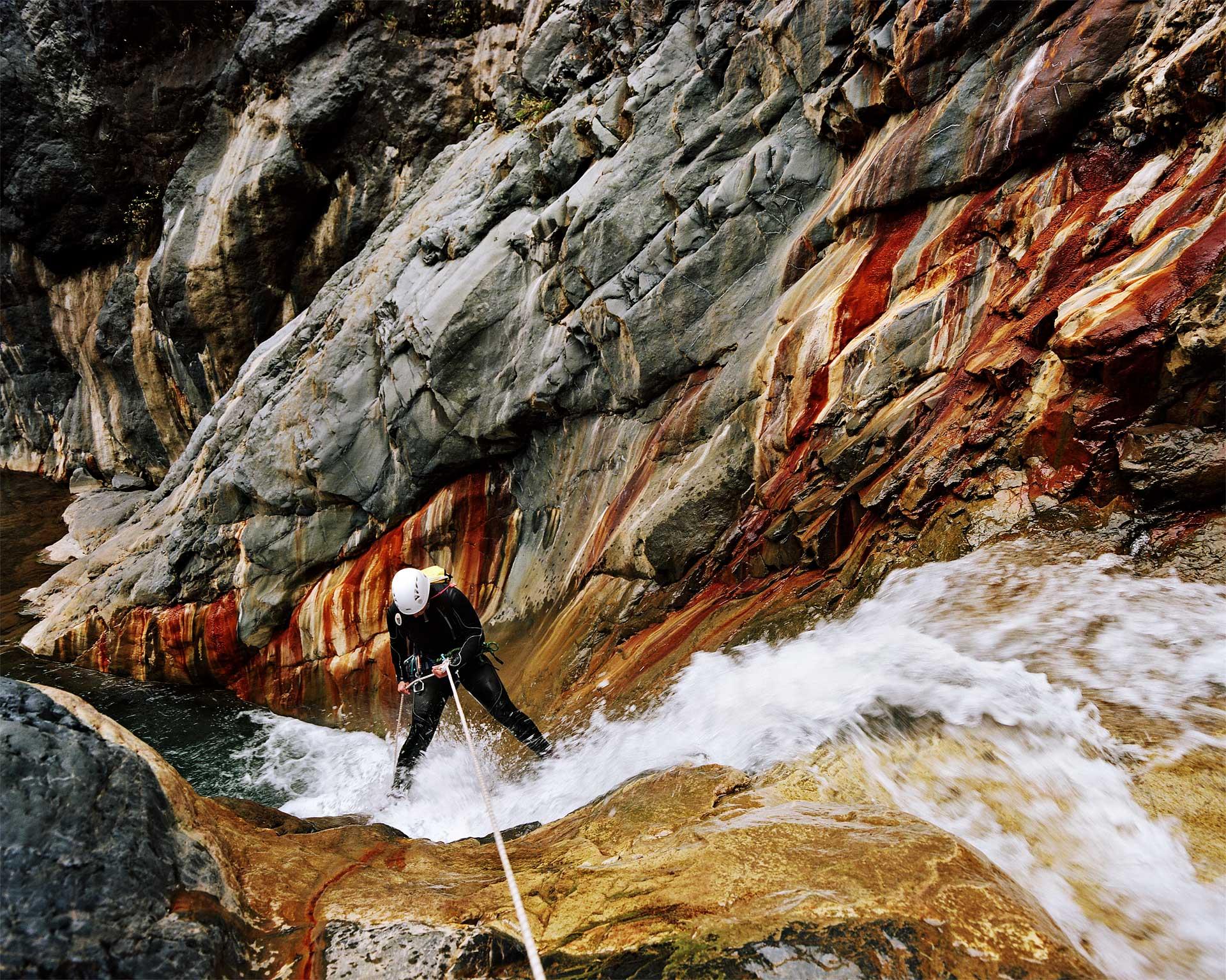 \u00c9milie dans le canyon de Bras Rouge