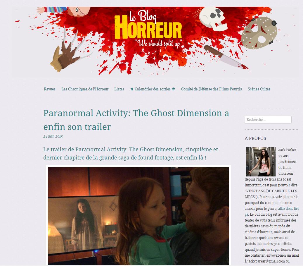 Le Blog Horreur, parce que d\u00e9cid\u00e9ment j'aime bien le sang