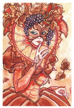 Masque vénitien de l'automne.