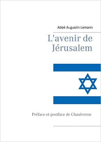 """Couverture """"L'avenir de Jérusalem""""."""