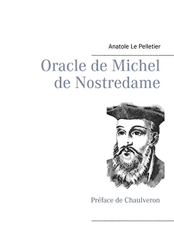 "Couverture ""Oracle de Michel de Nostredame"""