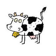 Logo du site, la vache savante !